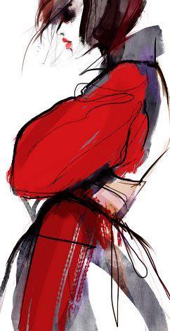 Nina Kosmyleva. Fashion illustration on ArtLuxe Designs. #artluxedesigns
