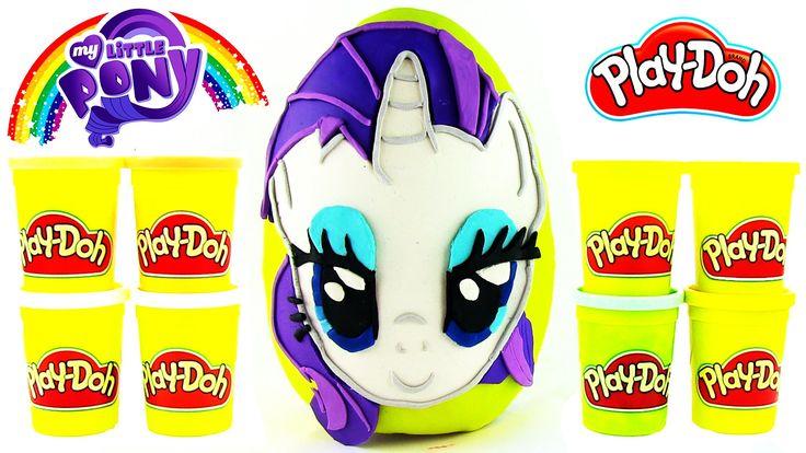My Little Pony Rarity Oyun Hamuru DEV Sürpriz Yumurta Açma Squishy Pops ...