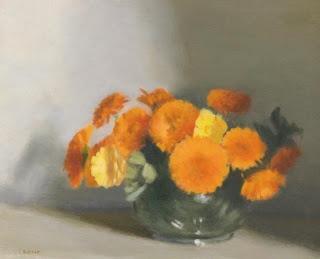 Clarice Beckett:  Bowl of Marigolds