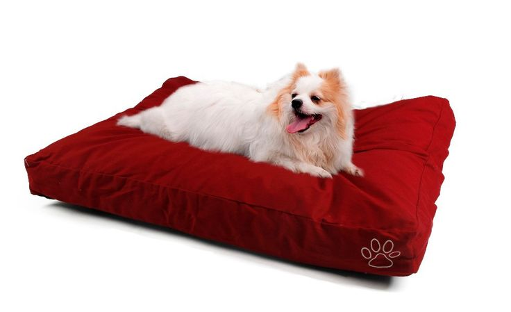 Dog Cushion Cover Red Yan Cotton Bed Cover Only Pet Fleece Big Dog Bed Mat Cover L/XL