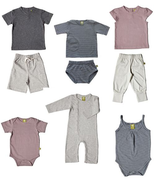 Nui Organics new organic cotton collection -simple shapes, neutral colours