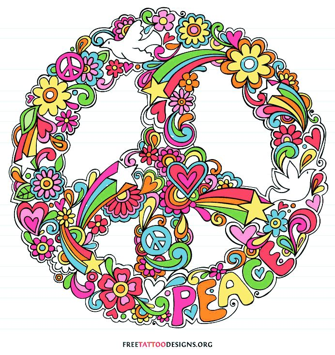 52 Best Peace Sign Tattoos Images On Pinterest