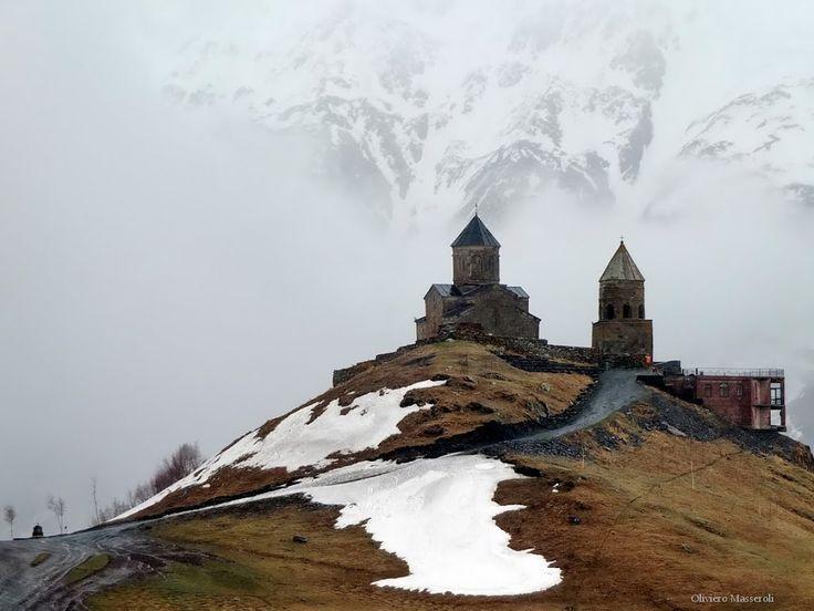 Gergeti Trinity Church - Monte Kazbek - Georgia by Oliviero Masseroli