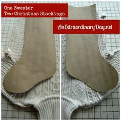 repurposed sweaters   ... sweater on a cutting board or table inside out and study the sweater