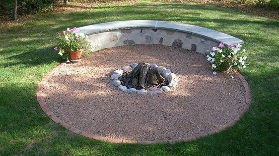 Love This Firepit Idea Add A Few Stepping Stones And
