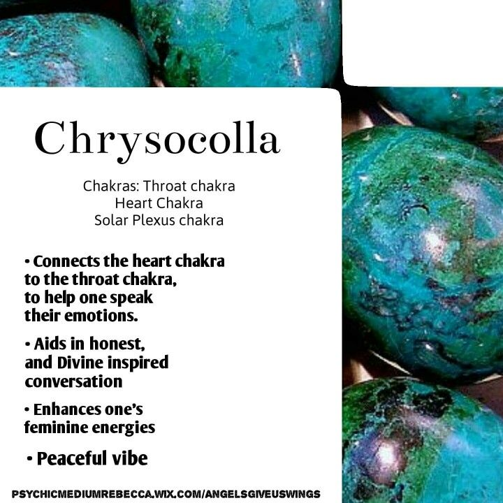 Chrysocolla crystal meaning