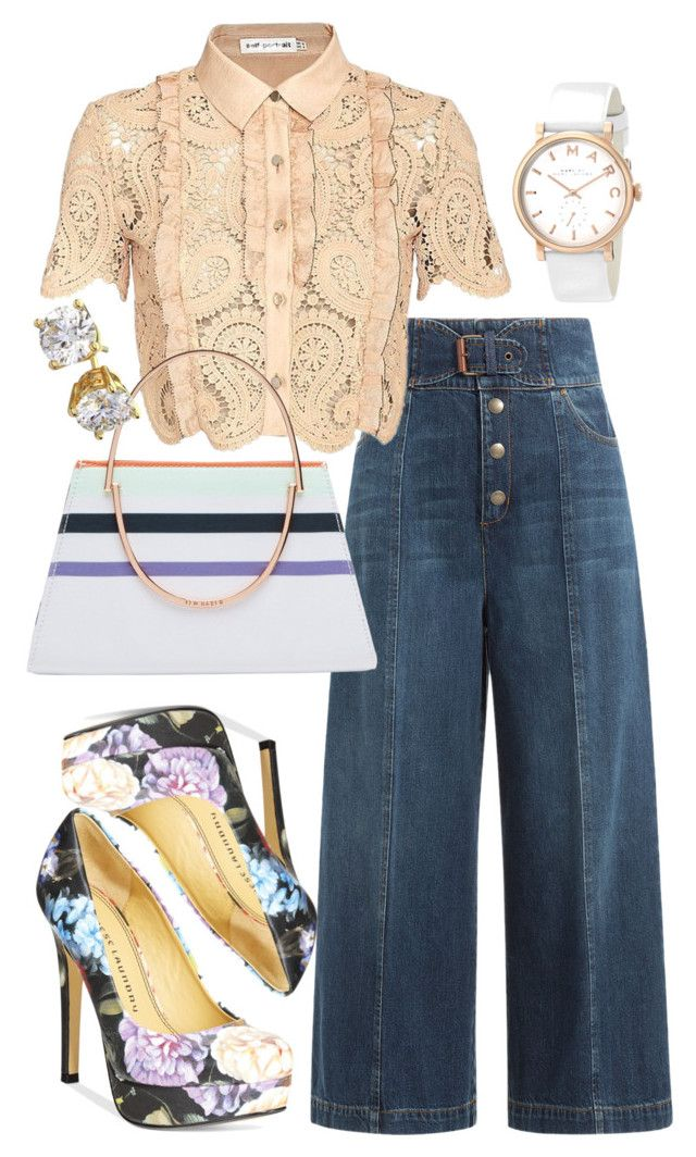 """Dress down Friday"" by church-fashion on Polyvore featuring RED Valentino, self-portrait, Chinese Laundry, Ted Baker and Marc by Marc Jacobs"