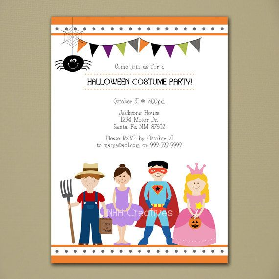 16 best Halloween bday invitations images – Costume Party Invitation