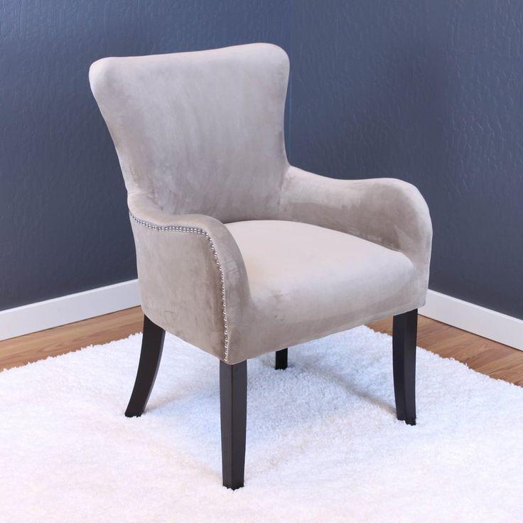house of hampton basalt velvet arm chair upholstery sharkfin gray