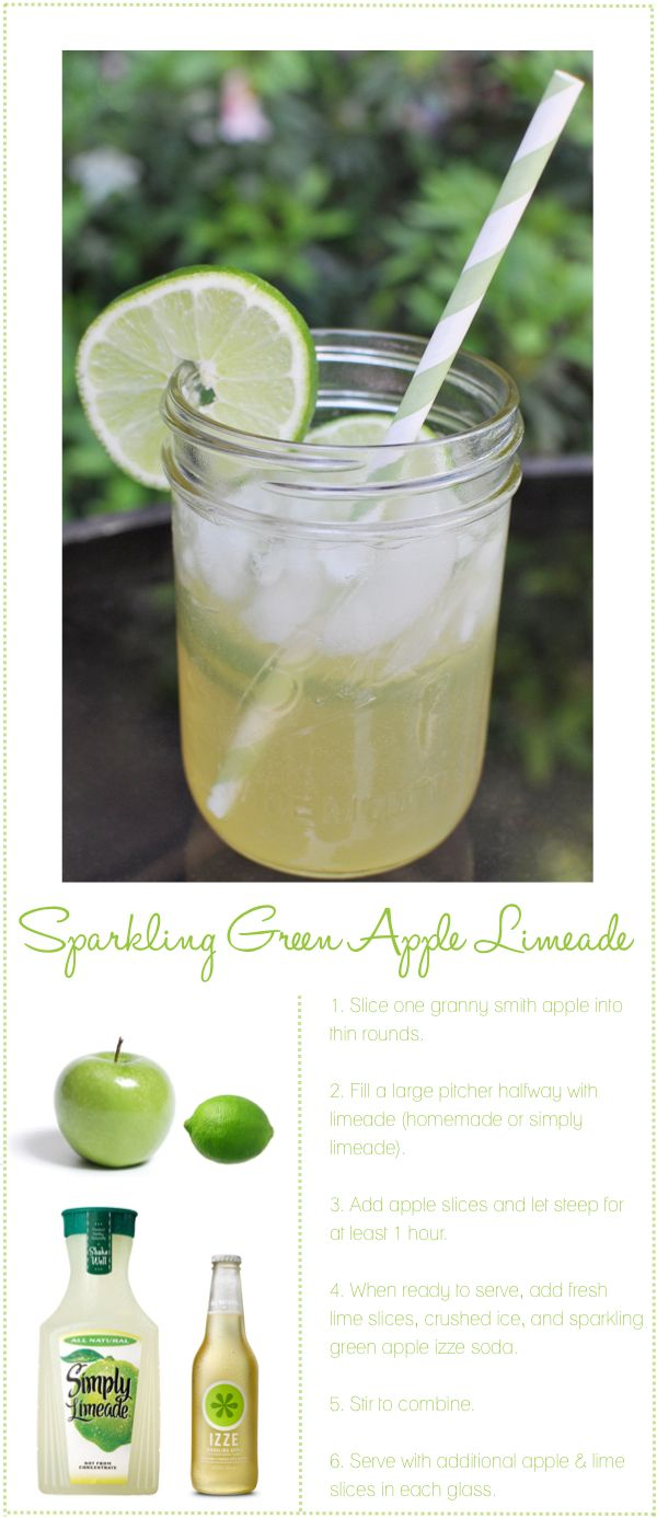 sparkling green apple limeade. i think I found my summer drink.