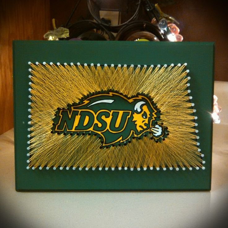 NDSU, North Dakota State University, North Dakota String Art, State String Art