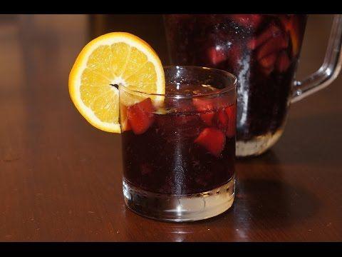 Como hacer sangría de forma fácil | Bebida clásica española con vino tinto - YouTube
