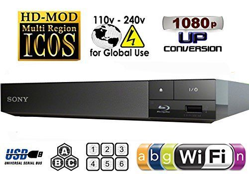 2015 SONY BDP-S3500 Multi Zone All Region Code Free Blu Ray WI-FI - DVD - CD Player - PAL/NTSC - Worldwide Voltage 100~240V - Comes with UK Style Power Supply for use in UK. By MultiSystem-Electronics