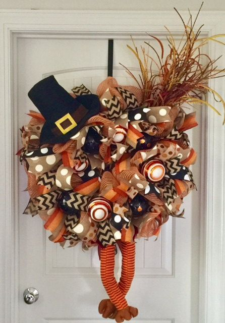 Fall Thanksgiving Wreath, Thanksgiving Turkey Wreath, Turkey Wreath, Fall Turkey Wreath, Thanksgiving Gift, Thanksgiving Wreath For Door by beadingheartdecor on Etsy