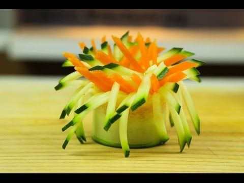 ▶ Vegetable Pinwheel Garnish - YouTube