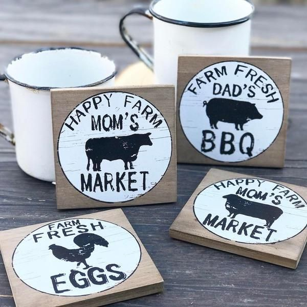 Farmhouse Coaster Set $18