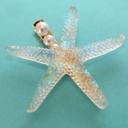 Cute Pearl Starfish Hairpin For Women