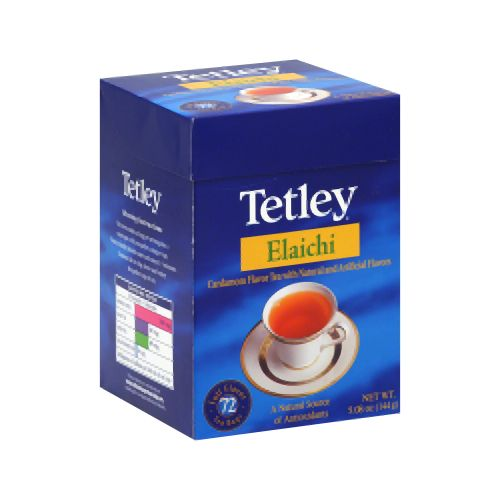 Tetley Tea Elaichi (Cardamom) 72-Count Tea Bags (Pack Of 6) - Pack Of 6 V991-SPK-47091