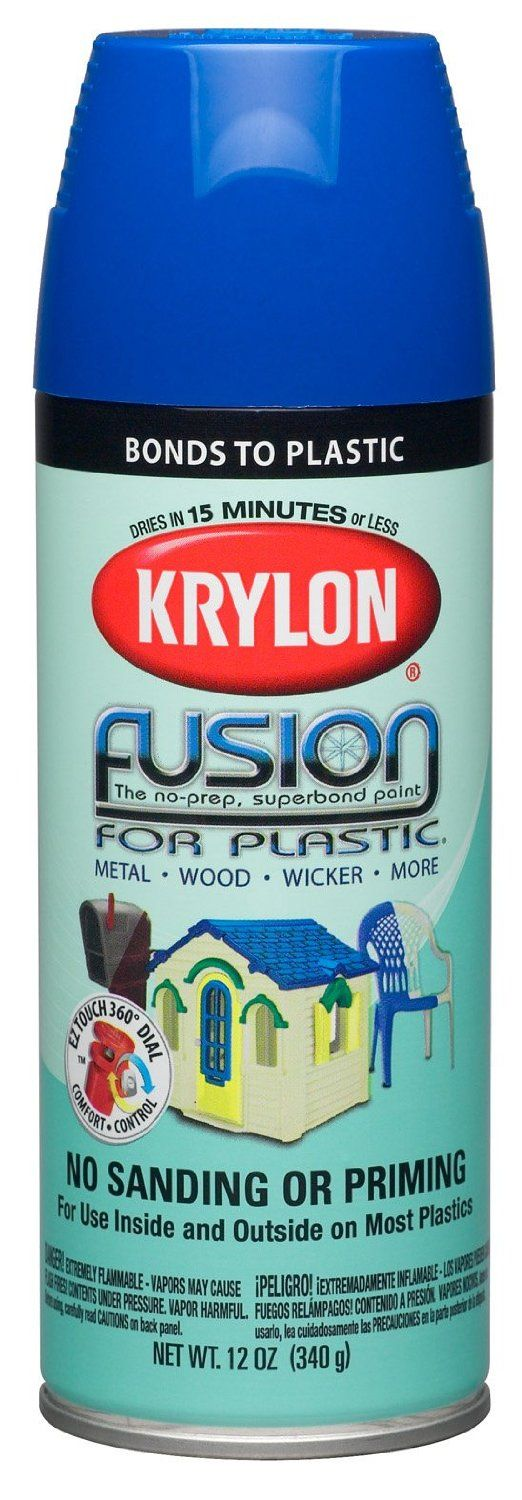 Krylon K02329000 Fusion For Plastic Aerosol Spray Paint, 12-Ounce, Patriotic Blue - - Amazon.com
