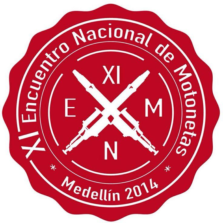 Logomarca Encuentro Nacional de Motonetas 2014. Colombia. @ManuelRpo_eb  #Vespa #VespaLovers