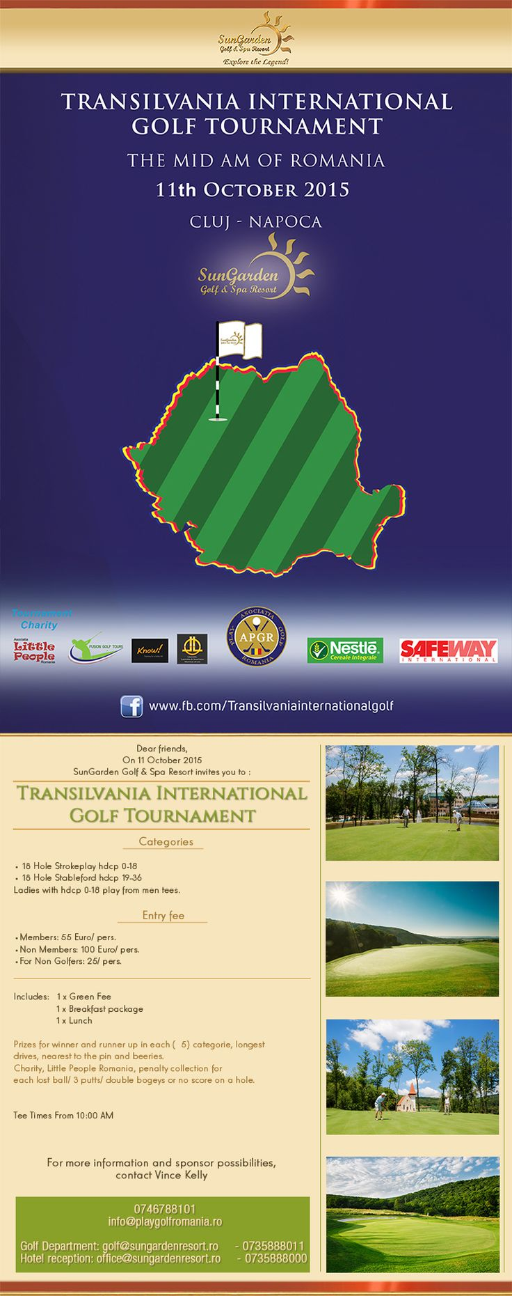 11 octombrie Transilvania International Golf Tournament (The Mid- Am of Romania) - Sun Garden Resort