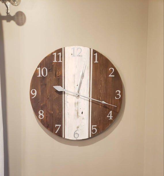 Wood Wall Clock Rustic Wood Clock Wood Clock Wooden Wall Clock Rustic Clock Reclaimed Wood Signs Recla Rustic Wood Clocks Wood Clocks Rustic Wall Clocks