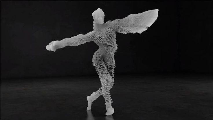 Alucinante danza generada con captura de movimiento: DIM - Kúbico