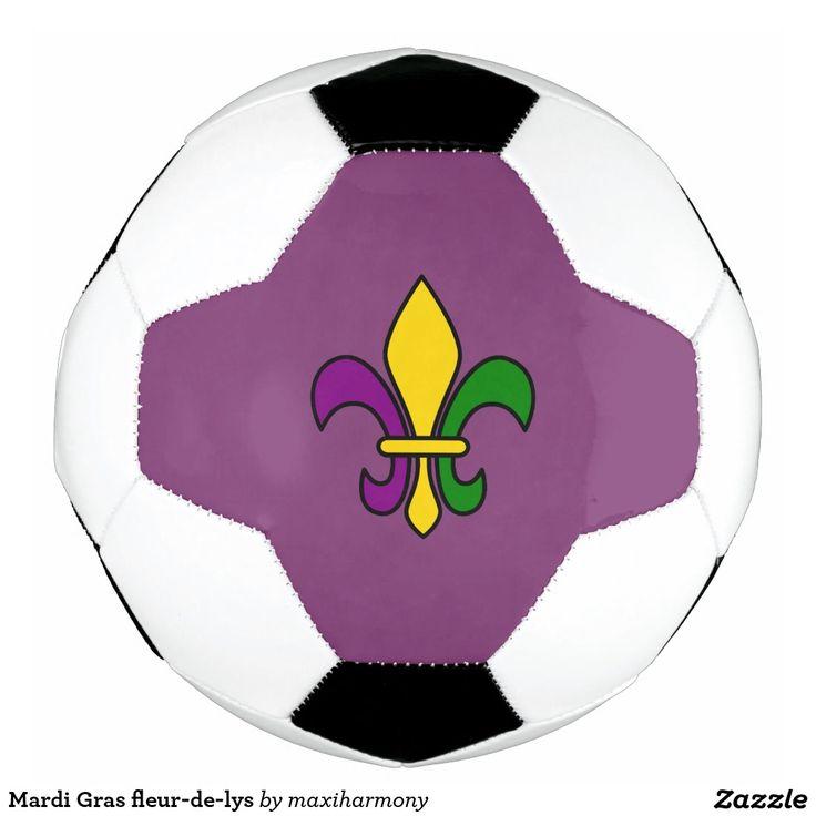Mardi Gras fleur-de-lys Soccer Ball