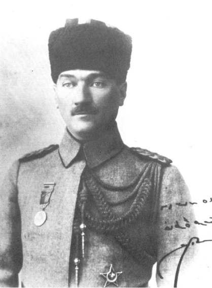 Mustafa Kemal Pasha, known as Ataturk, the Father of Turks, the founder of the Turkish Republic