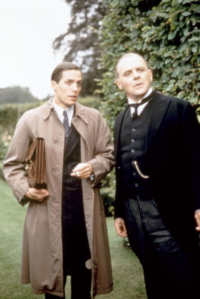 REMAINS OF THE DAY, Hugh Grant, Anthony Hopkins, 1993.  | Essential Film Stars, Hugh Grant http://gay-themed-films.com/film-stars-hugh-grant/