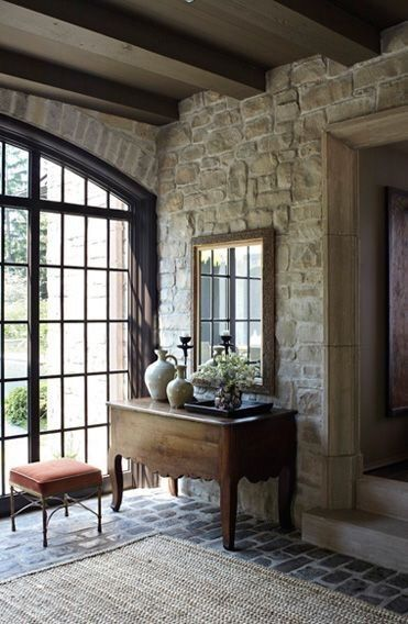 Stone House in Chicago by: http://www.mcalpinehouse.com #conservatorygreenhouse