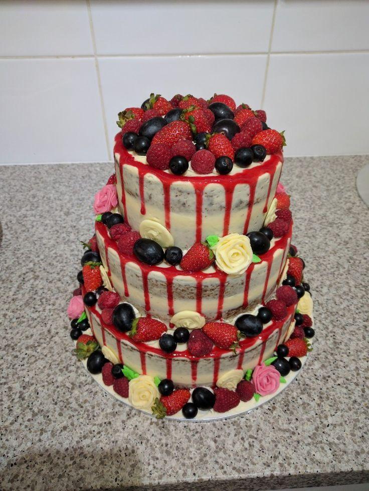 White chocolate mudcake and berries