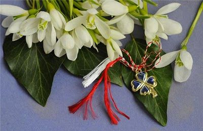 "A goodluck ""martisor"" for the first day of spring"
