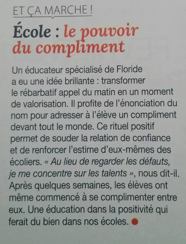 Ecole : le pouvoir du compliment via www.tdah.be