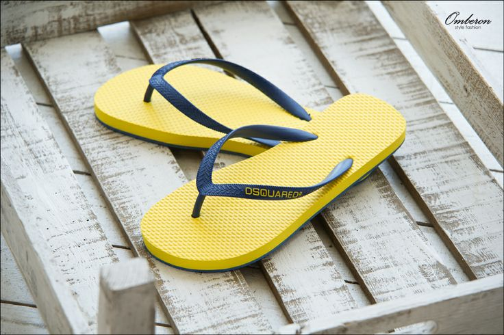 Essential Summer Footwear, #DSQUARED2 Flip Flops. Omberon Style Fashion. © Vicky Lafazani