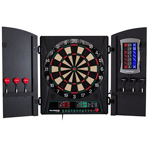 Dart Equipment for Kids - Bullshooter by Arachnid Crickettmaxx 10 Electronic Dartboard Cabinet Set >>> Want to know more, click on the image.