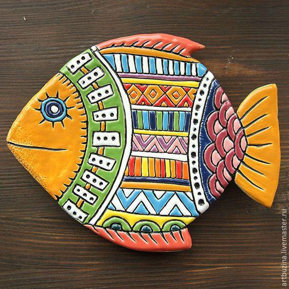 Купить Рыбка-тарелка керамическая - Керамика, керамика ручной работы, керамическая тарелка, рыба