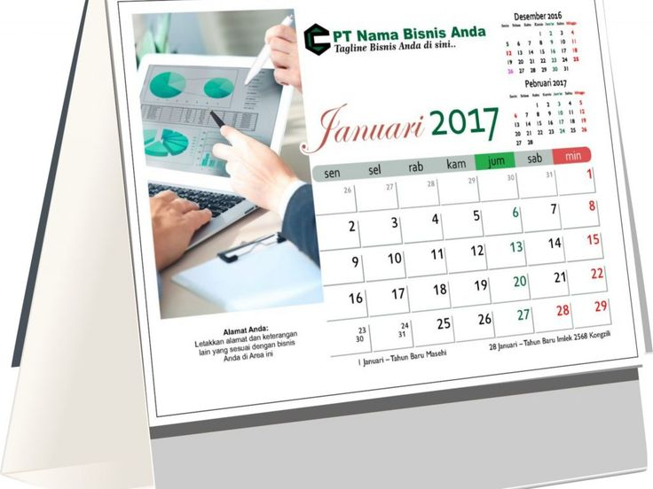 Desain Kalender Meja 2017 Tema Bisnis Free Download ...