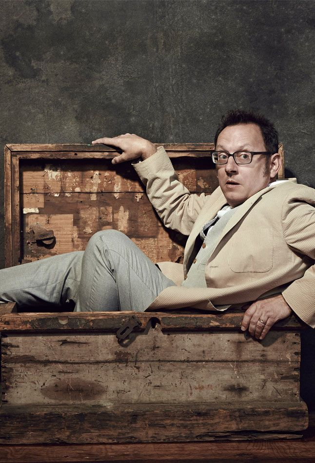 """Michael Emerson (Harold Finch) promoting """"Person of Interest""""."""