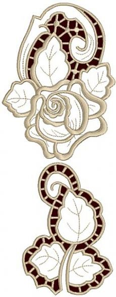 Advanced Embroidery Designs - Rose Embellishment Set