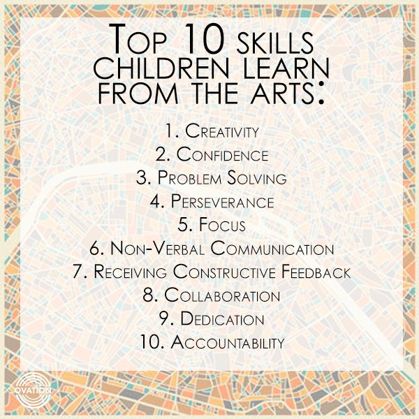 We all know that Arts Education can make you more well-rounded, but here are 10 more reasons that Arts Education is important!