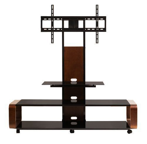 Multi Function Tv Stand Entertainment Center Storage Home Theater Mount Flat New #TransDeco
