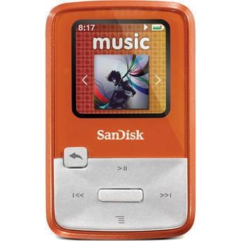 Free Shipping! SanDisk Sansa Clip Zip MP3 Player (4GB, Orange) Sansa Clip Zip MP3 Player (4GB, Orange), Compact Size, Clips On!, Budget-Friendly, User-Friendly Interface, MicroSDHC...
