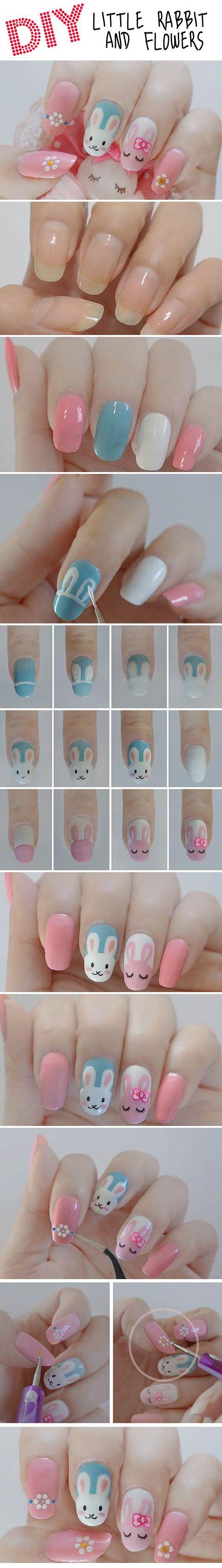 kawaii, sweet lolita, fairy kei, Rabbits  Flowers