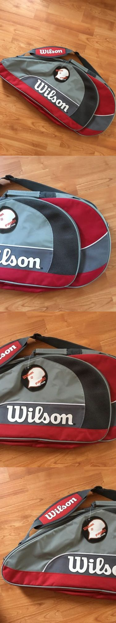 Bags 20869: Brand New Wilson Match Triple Tennis Racquet Bag **Holds 3 Racquets -> BUY IT NOW ONLY: $48.26 on eBay!