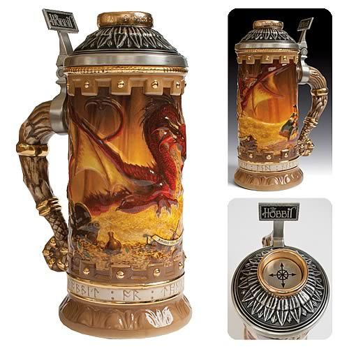 I want to drink my beers out of this!  The Hobbit Smaug the Magnificent Legendary Collection Stein