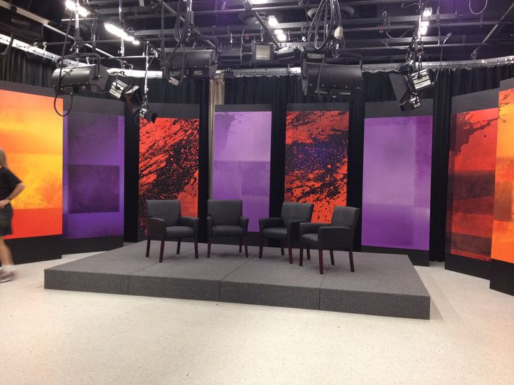 Communications Complex Constructs New Talk Show Set Bryant Archway Tv Set Designstage