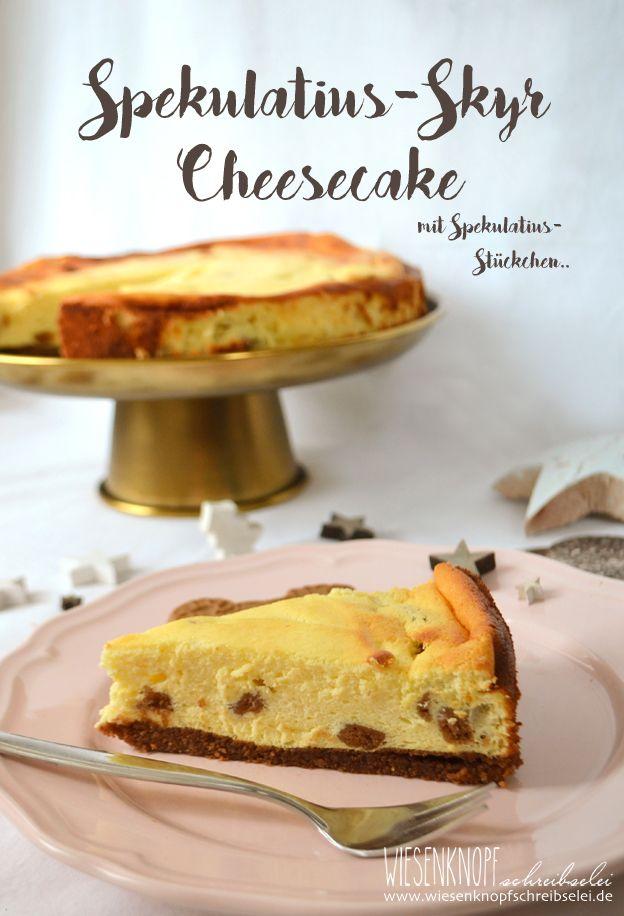 Spekulatius-Cheesecake mit Skyr und Spekulatiusstückchen <3  #ichwilldieblacktie #KitchenAidDE  #LimitedEdition