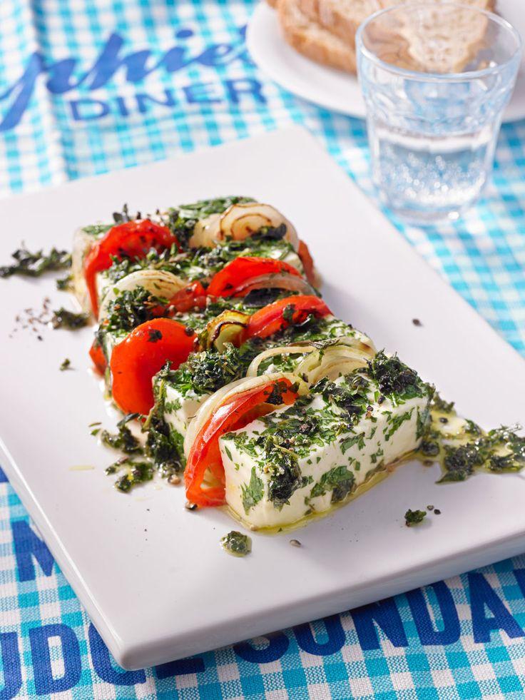 Feta aus dem Ofen mit Tomaten