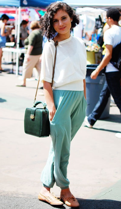 •• comfy cute ••: Daily Fashion, Mint Green, Everyday Fashion, Americanapparel, Street Style, Green Vintage, Vintage Bags, Jumpers Pants, Street Chic